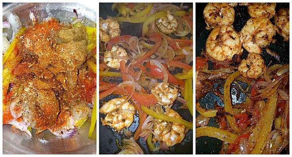 steps to make skillet shrimp fajitas recipe