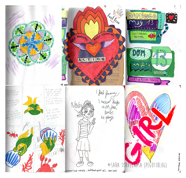 Pegotiblog - Art journaling - Skecthbook illustrations 04