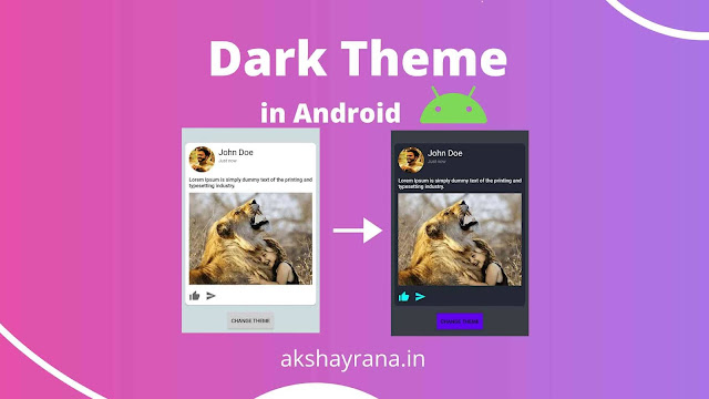 How to make Dark (Night) Mode Theme in Android