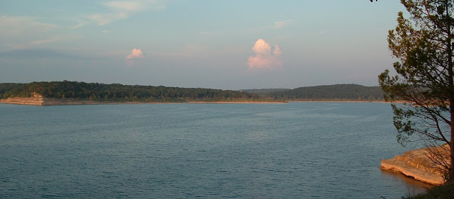 Looking out over Bull Shoals Lake
