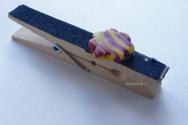 DIY μανταλάκι διακοσμημένο με τζιν
