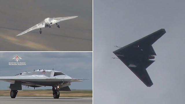 Russias-secretive-Okhotnik-stealth-drone-during-maiden-flight