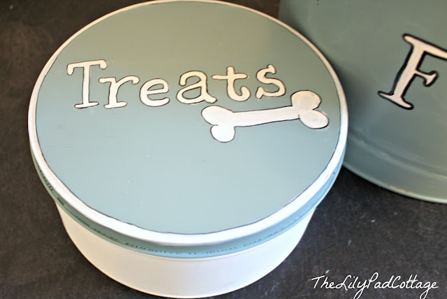 dog treat tins DIY out of popcorn tins