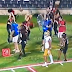 Ian Book hits Louisville cheerleader in face with throw