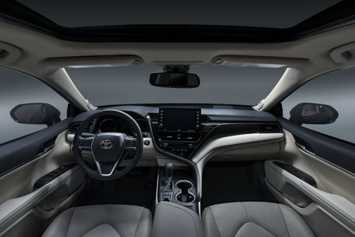 Toyota Camry 2021 cải tiến, nâng cấp màn hình rời