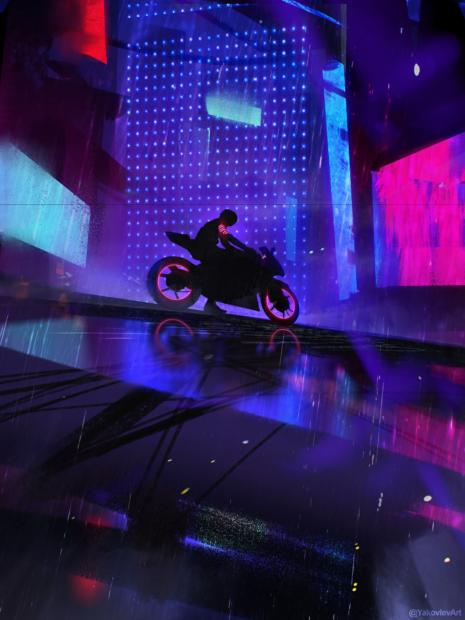 RIDER MOTORCYCLE CYBERPUNK GAME