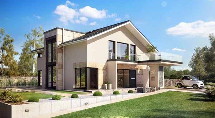 Musterhaus modern satteldach  Moderne Wohnhuser Satteldach ~ Alles Bild für Ihr Haus Design Ideen