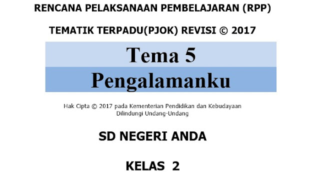 RPP PJOK Kelas 2 SD Kurikulum 2013 Revisi 2017