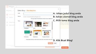 Proses mendaftarkan nama dan alamat blog di blogger.com