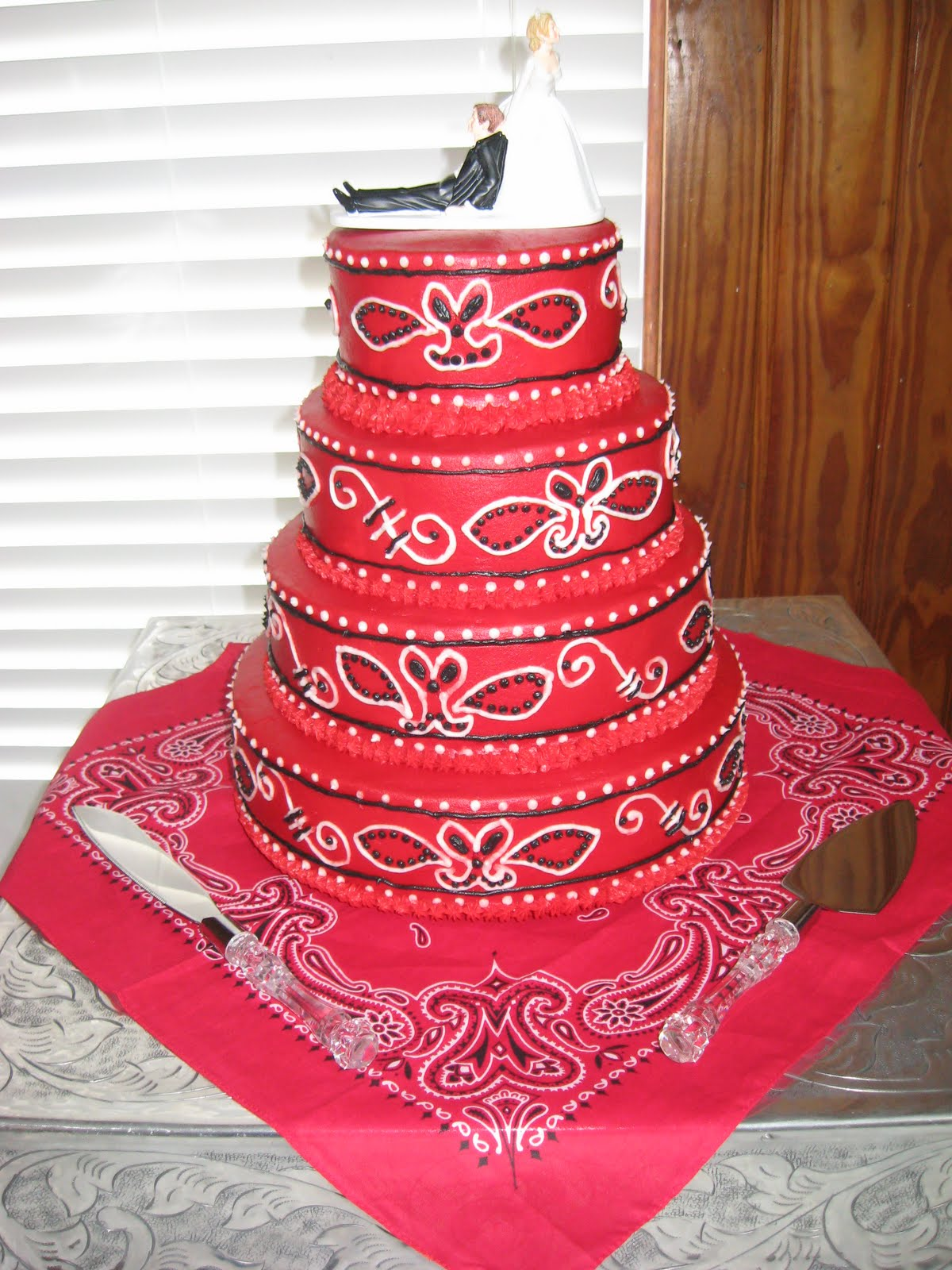 Delectable Sweets By The Smiths Bandana Wedding Cake