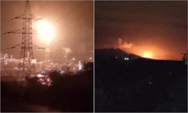 Πυρκαγιά σε μετασχηματιστές του AΔMHE στον Ασπρόπυργο (βίντεο)