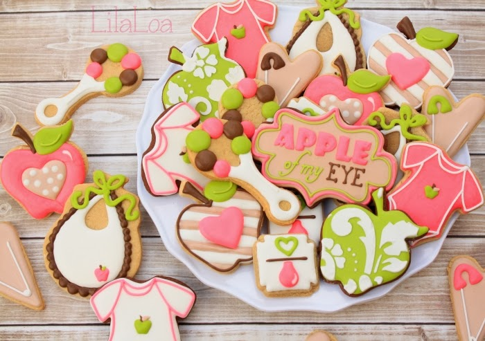 Apple Baby Shower Cookies