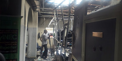 Just In - Fire Razes INEC Headquarters, Destroys Political Files