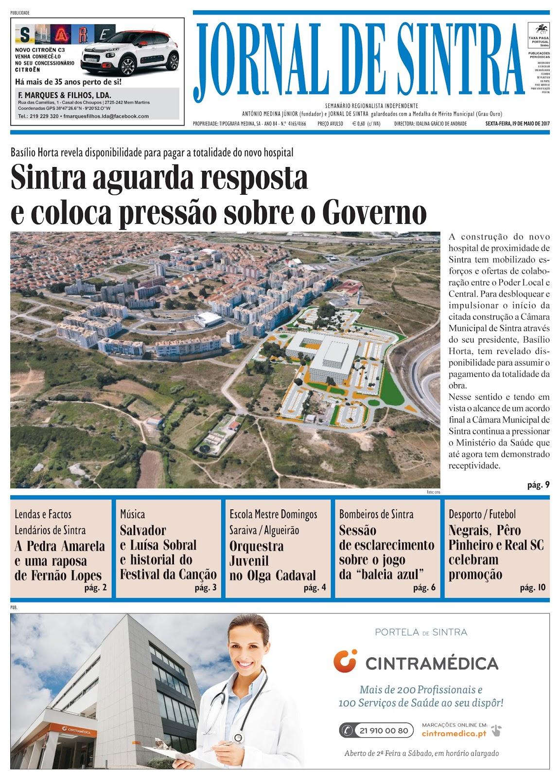 Capa da edição de 19-05-2017