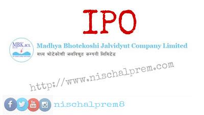 madhye+bhotekoshi+jalavidhyut+IPO+nepal+share+market