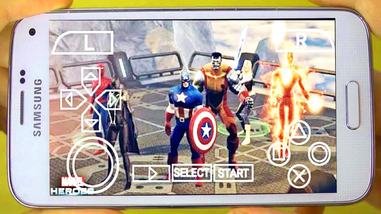 تحميل لعبة الأبطال الخارقين على محاكي PPSSPP للاندرويد 250mb marvel