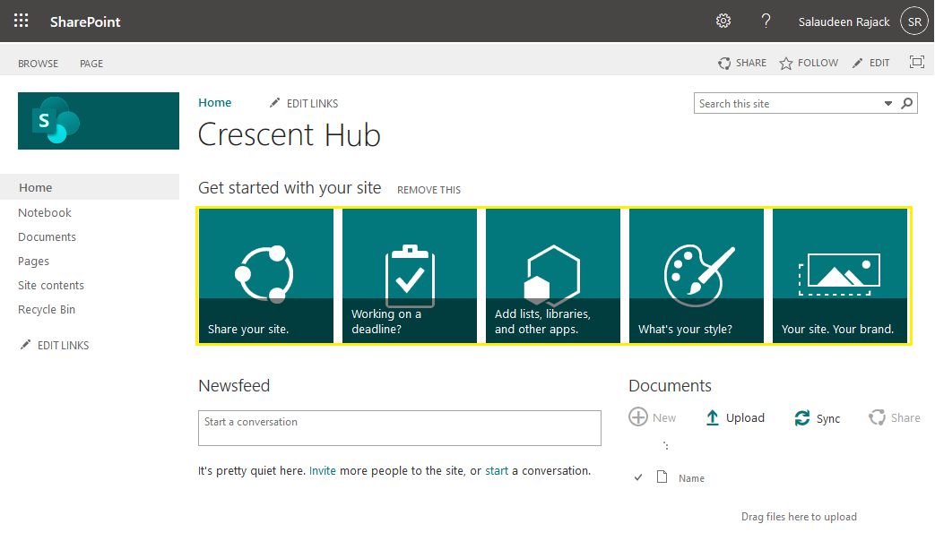 sharepoint online promoted links tile