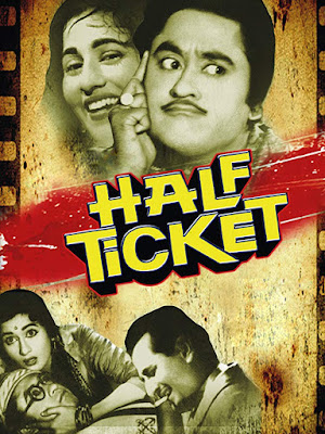 Half Ticket is a classic romantic comedy Hindi film directed by Kalidas in 1962. The film is produced by Bombay Talkies. It is starred by Kishore Kumar, Madhumala and Pran in the leading roles. Besides, there are some supporting characters too. Te film is made based on the Hollywood film 'You're Never Too Young' (1955) directed by Norman Taurog.   Half Ticket (1962) film poster   Comedy and Romance:  It's a romantic comedy film. Specially, Kishore Kumar Madhubala and Pran have acted most of the comedy scenes of the film. But there are some romantic scenes too. 'Half' means something comedy. 'Half' it is not full. it can be a half man, a half woman, anything half. It means something comedy. So, the name of the file is also noticeable to be a comedy film.     Plot Summary:  Vijay Lal Chand (Kishgore Kumar) is a son of a rich industrialist and businessman. Vijay protests with his friends at the college premises against wrong activities of the college principal. But Vijay's father does not like that. So, he wants to marry him off to stop these activities. But Vijay at this moment does not want to marry. At first, he wants to be settled. So, he decides to go to Bombay. But he has not enough money to buy a full ticket. He distinguishes as Munna, a child. On the other hand, a diamond smuggler (Pran) keeps a diamond secretly, cost of 2 lac rupees, in Munna's pant pocket while police coming at the ticket counter. Munna meets Rajnidevi (Madhumala) into the train at her compartment. He falls in love with Rajnidevi. But Rajnidevi thinks him as a child as he belongs to a half ticket for his journey. The diamond smuggler Raja Babu follows her and him for a whole time. In the second stage of the film, their comedy scenes are fulfilled with their comedy activities.in Bombay, Raja Babu and Rajnidevi can understand latter that Munna is not a child. He was just acting and misleading her. But after that Rajnidevi starts to love him when her aunt tells her to take him into their house. At last, she understands that Munna is the person with whom her marriage discussion was going on. On the other hand Vijay begins many professions in Bombay but cannot carry on them. Rajababu and his mistress always follow Vijay to snatch the diamond from his pocket. Raja Babu sends him to the madhouse. But he escapes from there firing in the madhouse. At last, Raja Babu snatches the diamond from his pocket by force and threatening by pistol and tried to fly away by stealing a plane with him but in vain. The police arrest him. On the other hand, the wedding of Asha who was distinguished as Rajnidevi and Vijay is completed.    Variety of Profession:  In the film Asha is a stage dancer. His father is a businessman and is a close friend of Lal Dhyan Chand (Vijay's father). On the other hand, Raja Babu and his mistress are diamond smuggler. They illegally smuggle diamond. Lal Dhyan Chand is an industrialist and businessman. But who is Vijay Lal Chand? What is his profession? He has no permanent profession. He was a student in the college. But after being dismissed from college, in Bombay, he wanted to do any work. For the first time, he goes to a shop of a cottage industry to get a job. But he fails to get one. Thereafter, he gets a job of ironing clothes. But he could not carry on that job for irresponsibility. On the other hand he does work in a tape recording shop. He works in other sectors but could not carry on there.    Challenging Shot:  In the film Kishore Kumar's comedy dialogues and comedy performance are noticeable. There is no overacting performance but it's a comedy film. Romance between Asha and Vijay overdraws this film. On the other hand, it is also a musical film. It has seven popular songs. These songs have helped it to be a musical movie. Director has used some challenging shots at that time of 1962. For example the shots of planes, helicopter, and picker machine cars and others.    Watch the film 'Half Ticket' (1962) here.