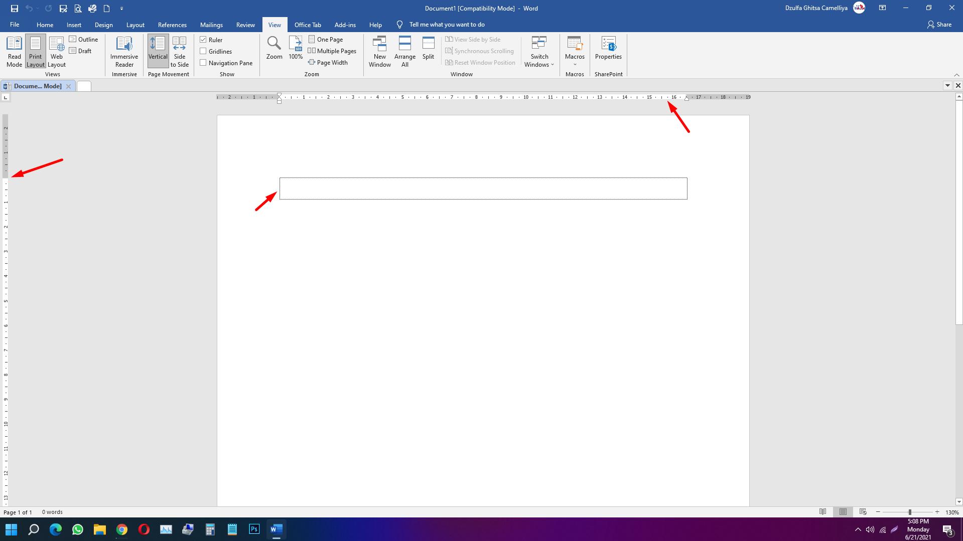 Cara Menampilkan Ruler dan Margin Microsoft Word