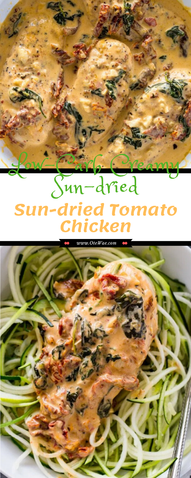 Low-Carb Creamy Sun-dried Tomato Chicken