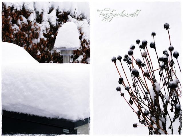 Gartenblog Topfgartenwelt Winter: tiefverschneite Mülltonnenbox