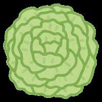 お花紙のイラスト(緑)