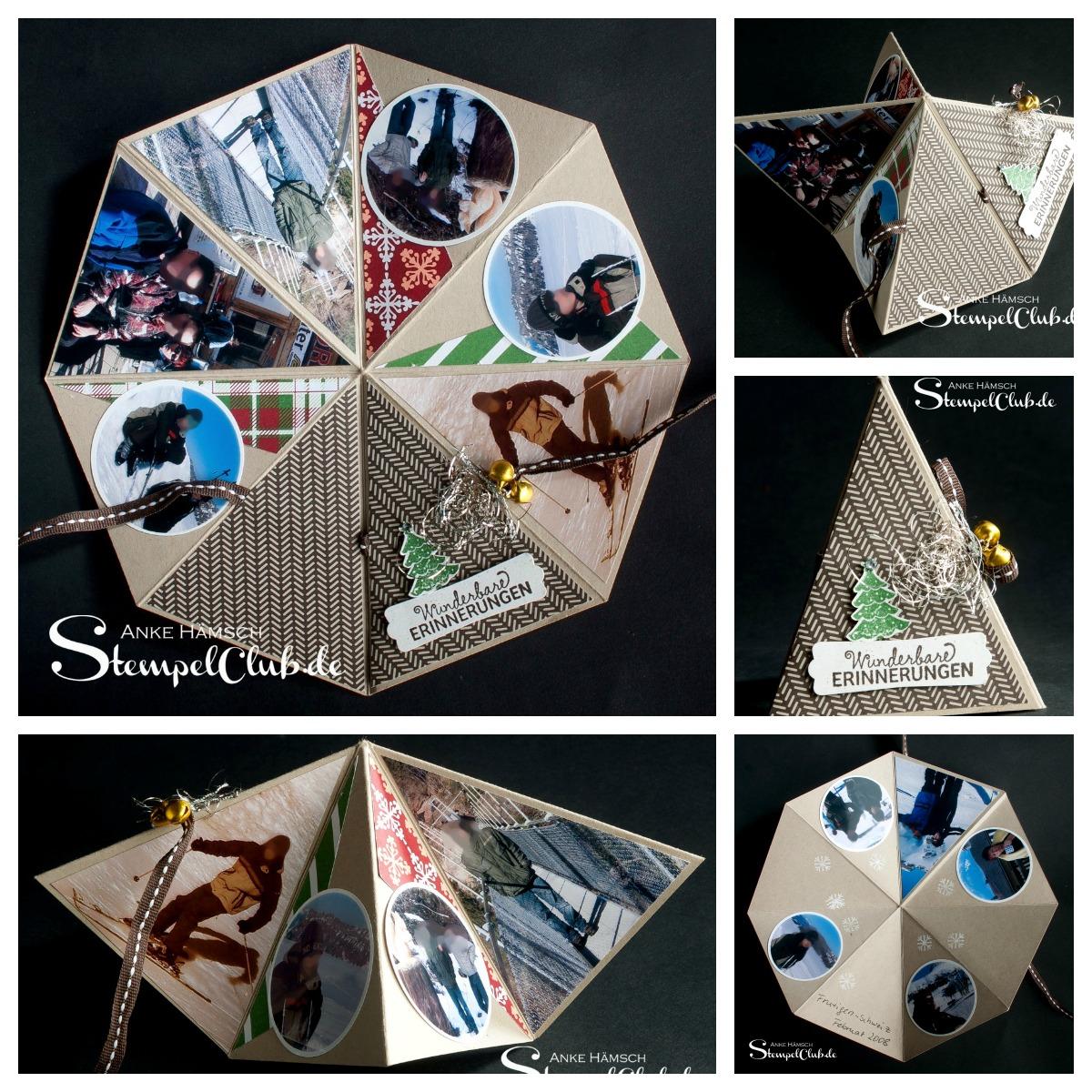 Minialbum in einer Achteckform - Octagonalbum, Stampin up