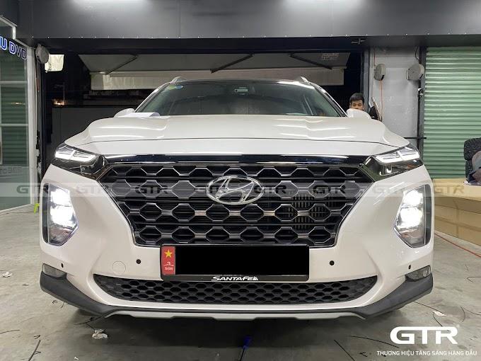 Hyundai Santafe nâng cấp BI G-LED X sáng không đối thủ