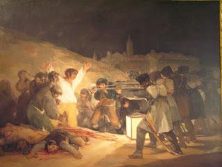 Los fusilamientos del 3 de Mayo de Goya. Museo del Prado, Madrid.