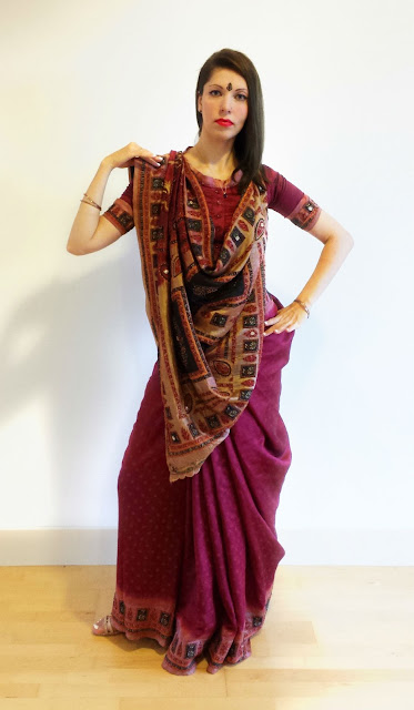 Rajrani Saree Draping Style