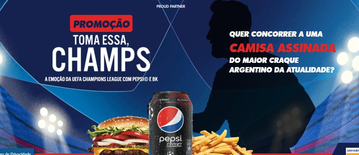 Promoção Toma Essa Champs Pepsi e BK Camiseta 10 Autografada