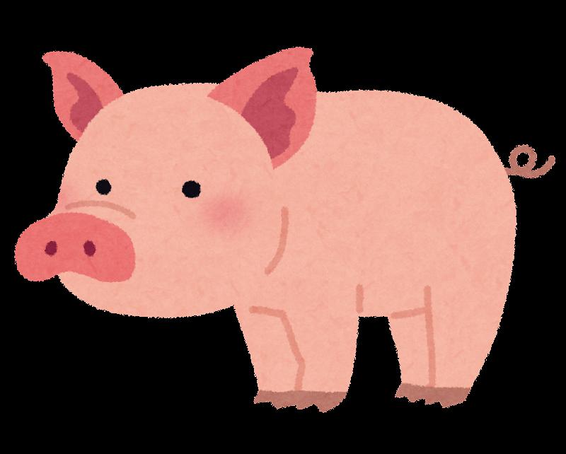 豚のイラスト かわいいフリー素材集 いらすとや