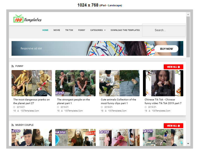 Smart Tube blogger templates free download