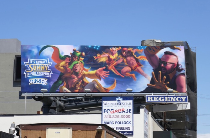 Its Always Sunny in Philadelphia season 14 billboard