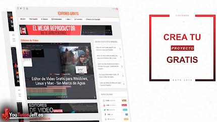 Editores de Vídeo Gratis Sin Marca de Agua