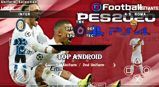 PES 2020 PPSSPP English Version Camera PS4 Android Offline