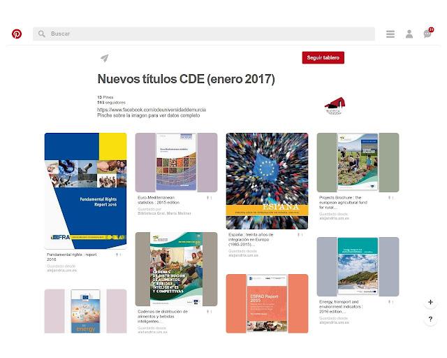 Nuevos títulos CDE (enero 2017)