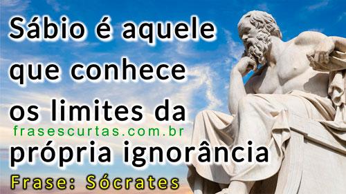 Sábio é aquele que conhece os limites da própria ignorância