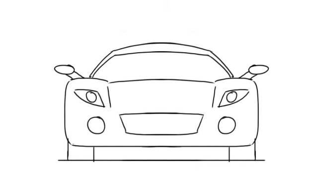 dibujos de autos faciles a lapiz