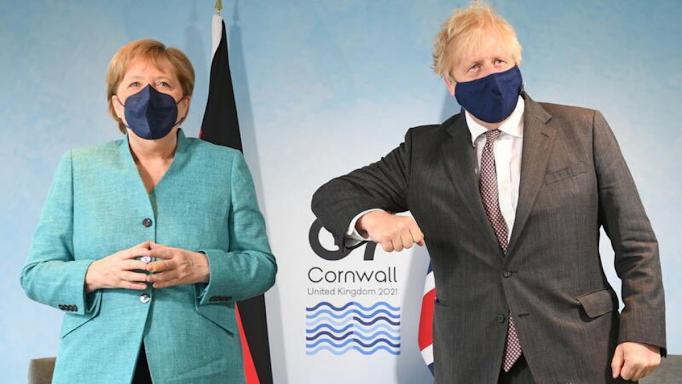 Angela Merkel ve Boris Johnson