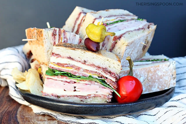 Pressed Italian Sandwiches with Olive Tapenade