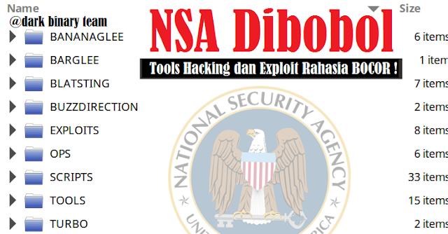 NSA Diretas! Beberapa Tools Hacking Rahasia Bocor