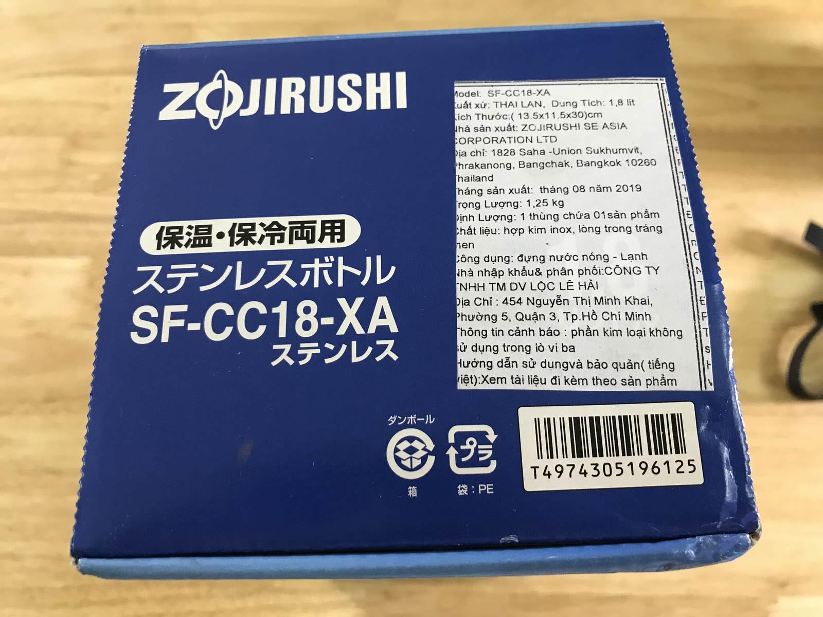 Trên tay bình giữ nhiệt cao cấp Nhật Bản chính hãng Zojirushi