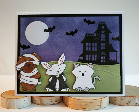 Halloween Card by Jennifer Moyer | Stamps by Newton's Nook Designs