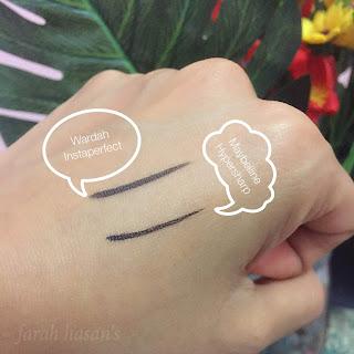 wardah vs maybelline eyeliner