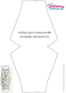 mascara de tecido molde