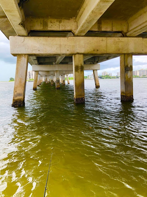 Fishing Big Carlos Pass Under Bridge at Lovers Key State Park