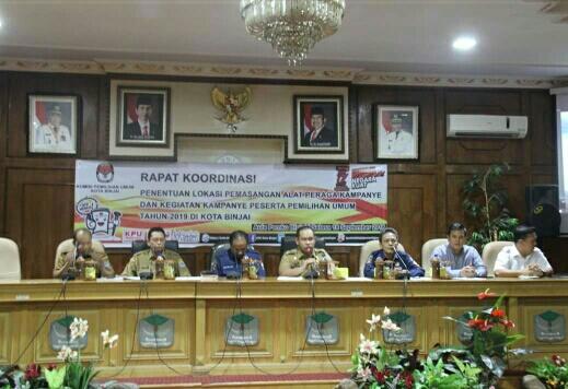 Pemko Binjai Gelar Rapat Koordinasi Penentuan Lokasi APK