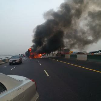 Image result for 24 passengers escaped being roasted alive on Third Mainland Bridge