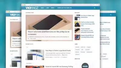 VioMagz premium blogger template Version 4.3.0 (Latest) for Free Download